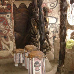 Sacred drums are used for traditional ceremonies which Susanne held regularly in the house and still take place today.