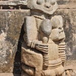 In the garden and the house are large stone sculptures of the late Buraimoh Gbadamosi.