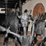 Metal sculptures by Ajibike Ogunyemi and Wood Scuptures by Rabiu Abesu