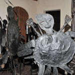 Metal sculptures by Ajibike Ogunyemi