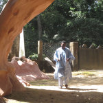 Sangodare Ajala, Susanne's son and Site Manager is delighted that the Arch has now been returned to its former place as the gateway to the Groves.